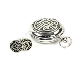 Celtic Circle Treasure Chest Pocket Watch and Cufflinks Gift Set Thumbnail 4