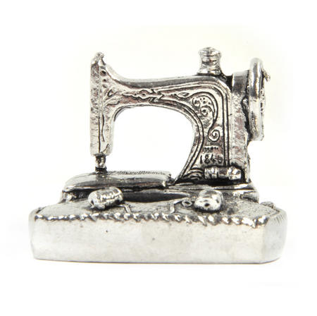 Sewing Station Pin Cushion in Solid Pewter