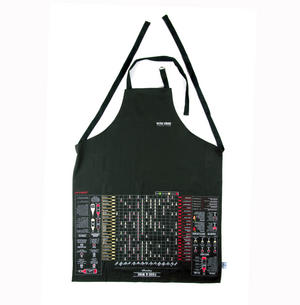 Wine Guide Cooking Apron - Sommelier Wine Pairing with Printed Info On Lift Up Front