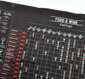 Wine Guide Cooking Apron - Sommelier Wine Pairing with Printed Info On Lift Up Front Thumbnail 4