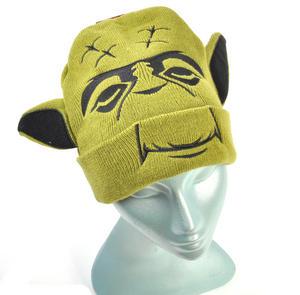 Yoda Star Wars Beanie Ear Muff Woolly Hat Thumbnail 3
