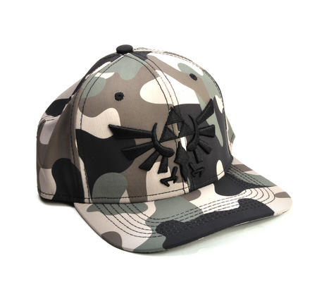 Legend of Zelda Wing Crest Logo Camo Snap Back Cap
