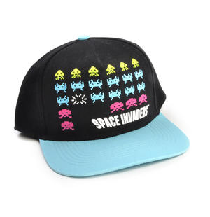 Space invaders Snap Back Cap - Retro Computer Geek Perfection