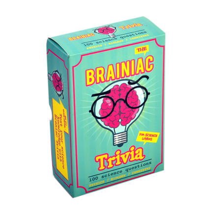 Brainiac Trivia - 100 Science Questions - Physics / Biology / Chemistry