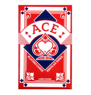 Red Ace Linen Finish Regular Index Playing Cards Thumbnail 1