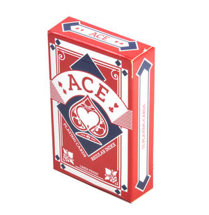Red Ace Linen Finish Regular Index Playing Cards Thumbnail 3