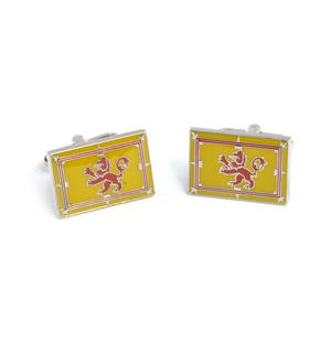 Cufflinks - Scottish Lion Rampant Royal Flag of Scotland