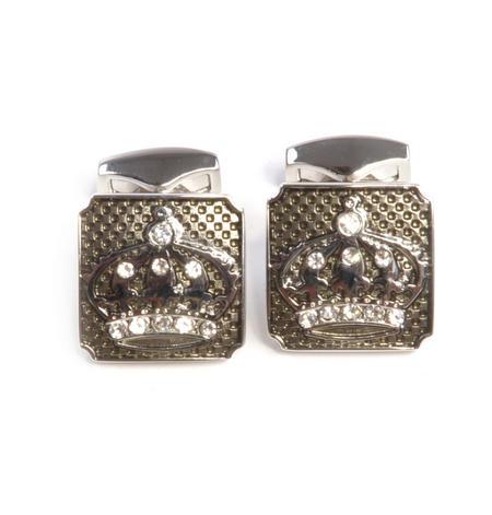 Cufflinks - Luxury Jewelled Crowns