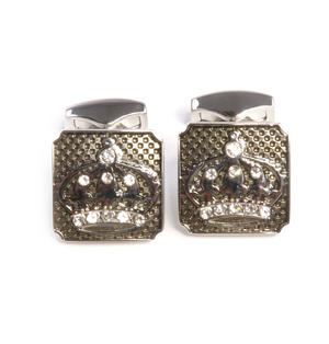 Cufflinks - Luxury Jewelled Crowns