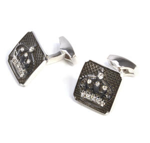 Cufflinks - Luxury Jewelled Crowns Thumbnail 2