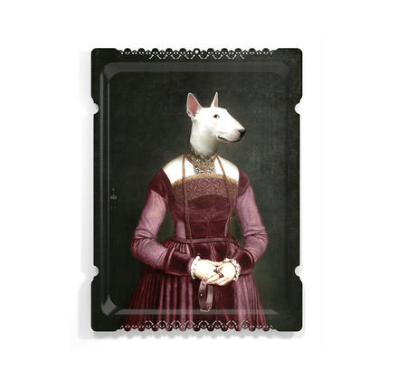 Olympe - Galerie De Portraits - Surreal Wall Tray Art Masterwork by iBride
