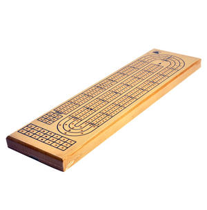 3 Track Crib Board - 38cm Large Wooden Cribbage Board