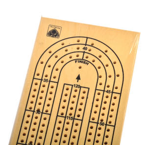 3 Track Crib Board - 38cm Large Wooden Cribbage Board Thumbnail 3