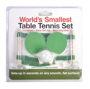 Worlds Smallest Table Tennis Set Thumbnail 1