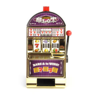 Casino Slot Fruit Machine Game with Flashing Jackpot
