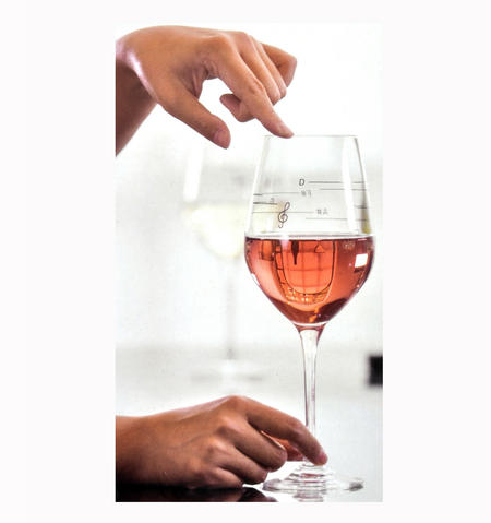 Glass of Music - Musical Wine Glass with Music Notes