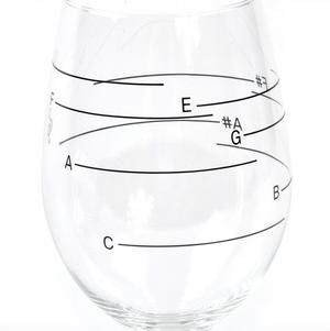 Glass of Music - Musical Wine Glass with Music Notes Thumbnail 5
