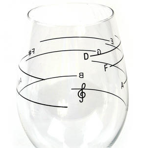 Glass of Music - Musical Wine Glass with Music Notes Thumbnail 6