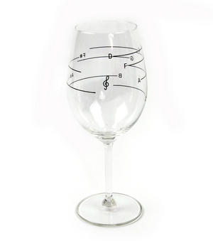 Glass of Music - Musical Wine Glass with Music Notes Thumbnail 7