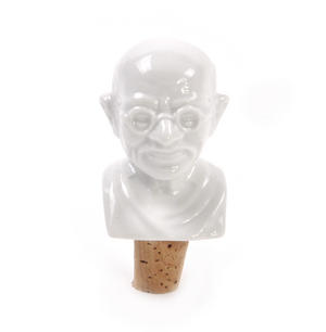 Gandhi Wine Bottle Stopper Thumbnail 1