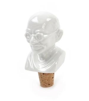 Gandhi Wine Bottle Stopper Thumbnail 2