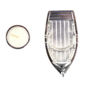 Chrome Rowing Boat Tea Light Candle Holder 14cm Thumbnail 3