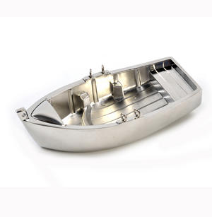 Chrome Rowing Boat Tea Light Candle Holder 14cm Thumbnail 4