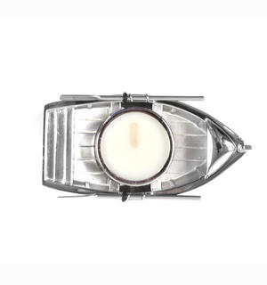 Chrome Rowing Boat Tea Light Candle Holder 14cm Thumbnail 7
