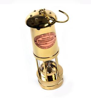 Brass Welsh Miner's Davy Paraffin Lamp, 24cm Thumbnail 4