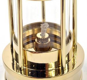 Brass Welsh Miner's Davy Paraffin Lamp, 24cm Thumbnail 5