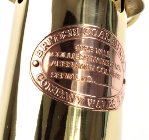 Brass Welsh Miner's Davy Paraffin Lamp, 24cm Thumbnail 6