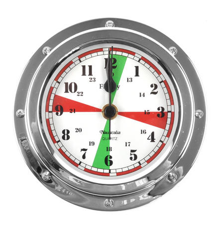 Fitzroy Radio Silence Clock  - Polished Chromed