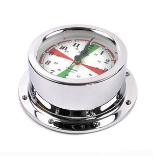 Fitzroy Radio Silence Clock  - Polished Chromed Thumbnail 2