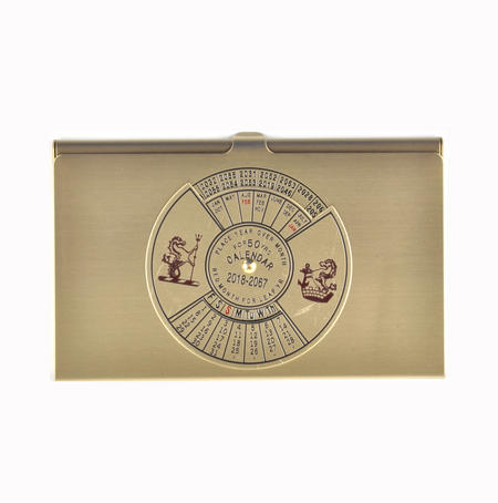 50 Year Calendar Business Card Case