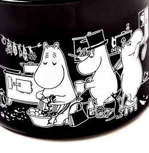 Moomin Muurla Enamel Large 3.5L Black Casserole Cooking Pot with Lid Thumbnail 2