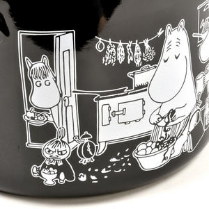 Moomin Muurla Enamel Large 3.5L Black Casserole Cooking Pot with Lid Thumbnail 3