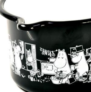 Moomin Muurla Enamel Black Jam Milk Saucepan Thumbnail 3