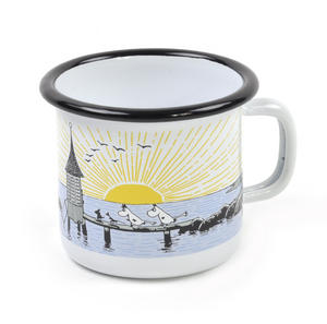 Moomin Mellow Wind Lighthouse - Moomin Muurla Enamel Mug - 25 cl