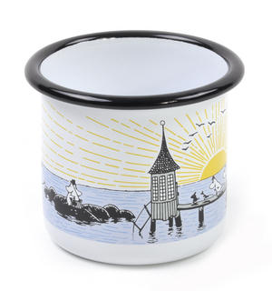 Moomin Mellow Wind Lighthouse - Moomin Muurla Enamel Mug - 25 cl Thumbnail 2