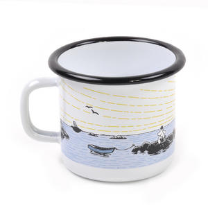 Moomin Mellow Wind Lighthouse - Moomin Muurla Enamel Mug - 25 cl Thumbnail 3