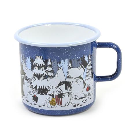Moomin Winter Forest - Moomin Muurla Enamel Mug - 80 cl