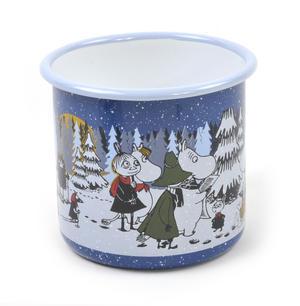 Moomin Winter Forest - Moomin Muurla Enamel Mug - 80 cl Thumbnail 3