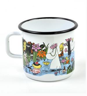 Moomin Trip to a Pond - Moomin Muurla Enamel Mug - 80 cl Thumbnail 2