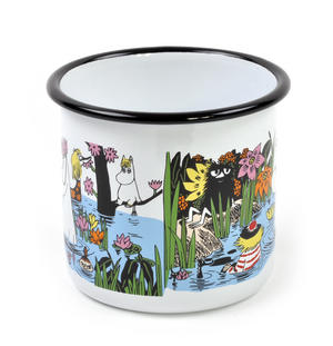 Moomin Trip to a Pond - Moomin Muurla Enamel Mug - 80 cl Thumbnail 3