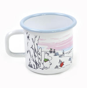 Moomin Winter Time  - Moomin Muurla Enamel Mug - 37 cl