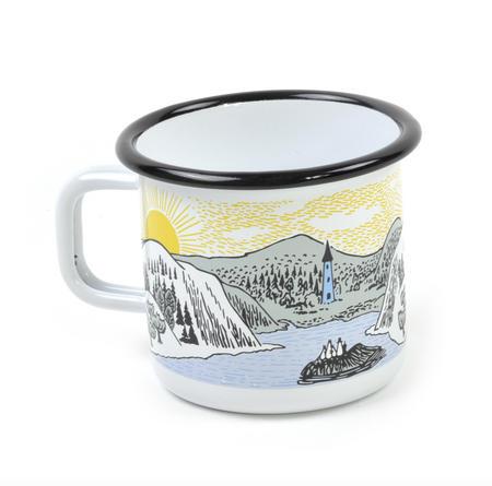 Moomin Mellow Wind Lake - Moomin Muurla Enamel Mug - 37 cl