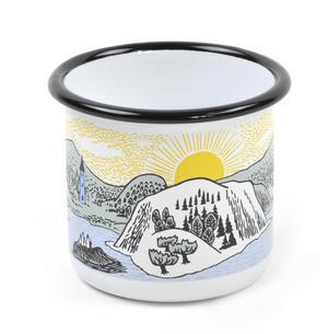 Moomin Mellow Wind Lake - Moomin Muurla Enamel Mug - 37 cl Thumbnail 3