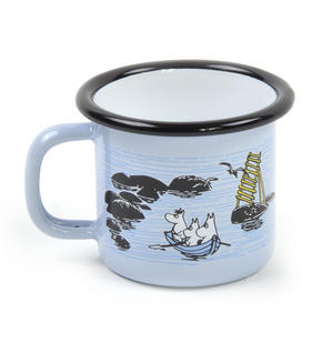 Moomin Mellow Wind Rowing Boat - Moomin Muurla Enamel Mug - 15 cl Thumbnail 1