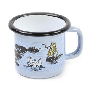 Moomin Mellow Wind Rowing Boat - Moomin Muurla Enamel Mug - 15 cl Thumbnail 2