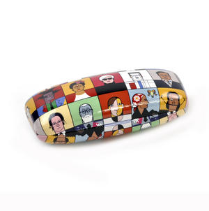 Great Modern Artists by Andy Tuohy Glasses Case - Basquiat, O Keefe, Mondrian, Kahlo, Dali, Warhol, Picasso Thumbnail 1